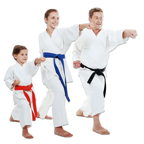 Martial Arts Lessons for Families in San Antonio TX - Man and Daughters Family Punching Together